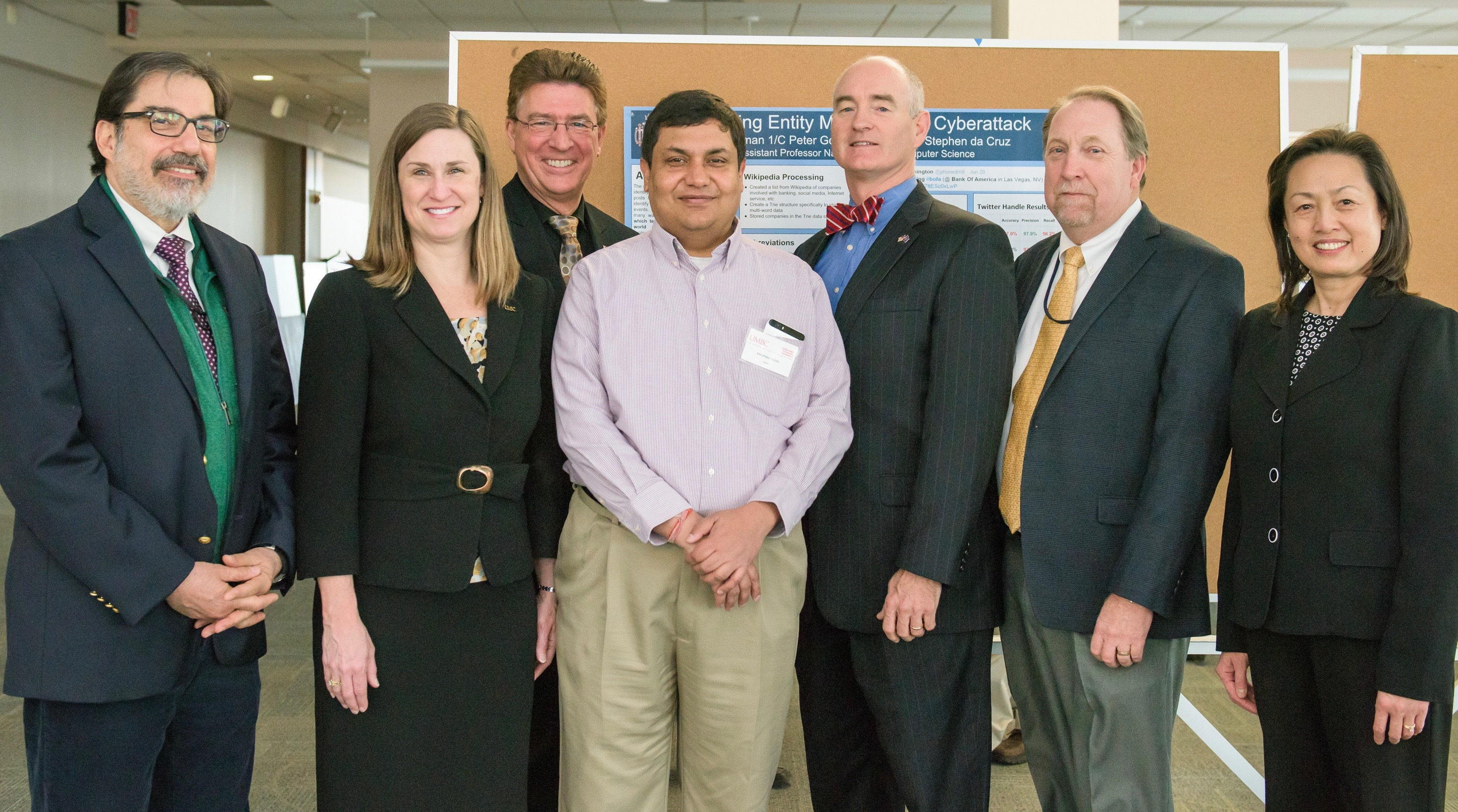 UMBC-USNA teams share progress on cybersecurity research at partnership symposium